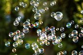 picture of blowers  - The rainbow bubbles from the bubble blower - JPG