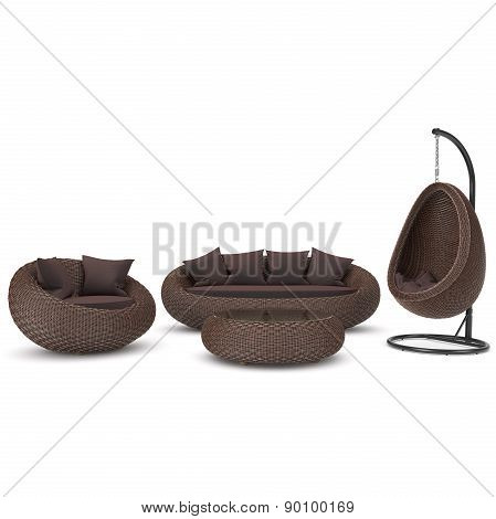 Set of rattan furniture
