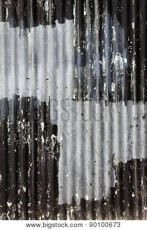 corrugated iron fence background