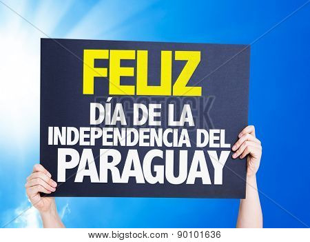 Happy Paraguay Independence Day (in Spanish) card with a beautiful day