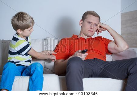 The Father Is Not Interested In His Son