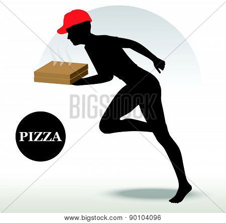 Pizza Delivery Person In Rush