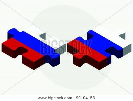 Russian Federation And Russian Federation In Puzzle