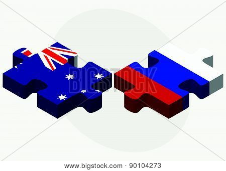 Australia And Russian Federation In Puzzle