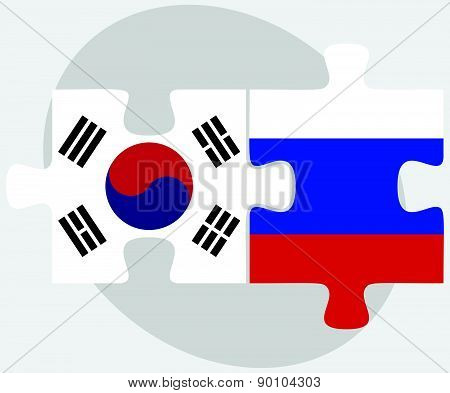 South Korea And Russian Federation In Puzzle