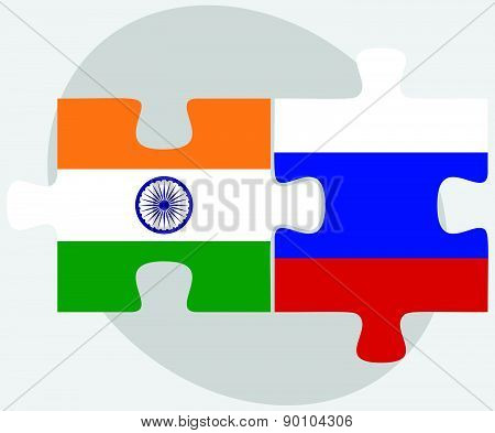 India And Russian Federation In Puzzle
