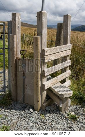 Step Stile Style, With Gate For Dog, North Wales