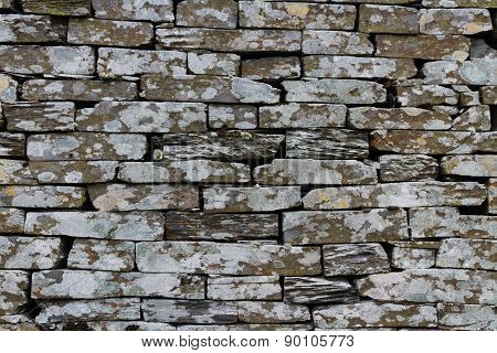 Slate, Dry Stone Wall, Texture, Background.