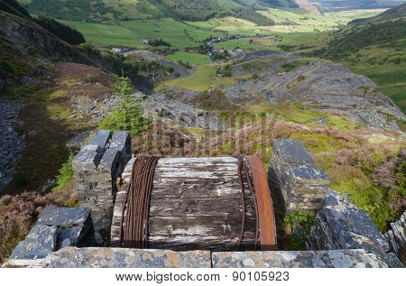Cwm Penmachno, With Slate Quarry, Incline Drum House