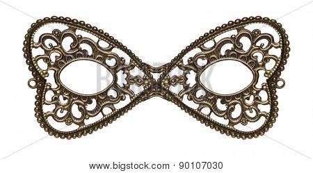 Masquerade eye mask made of metal