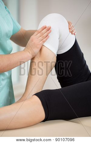 Patient After Knee Injury
