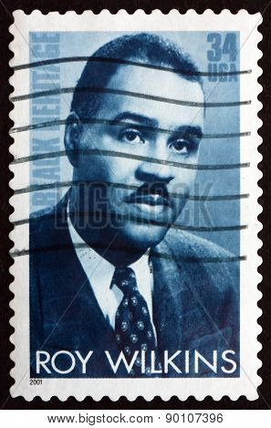 Postage Stamp Usa 2001 Roy Wilkins, Civil Rights Leader