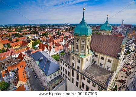 Augsburg, Germany old town cityscape.