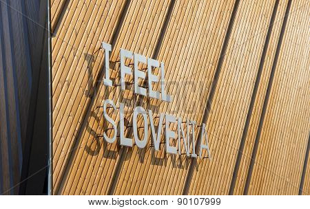 MILAN, ITALY - MAY 06, 2015: Slovenia Pavilion At Expo 2015