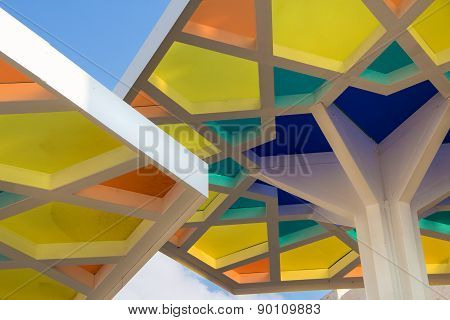 MILAN, ITALY - MAY 06, 2015: Details Of Qatar Pavilion At Expo 2015