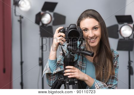 Young Photographer Posing