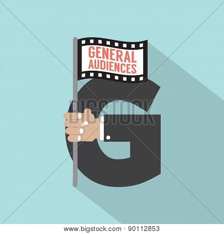 General Audiences Symbol-american Film Rating System.