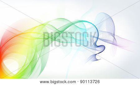 Colorful Motion Lines On White
