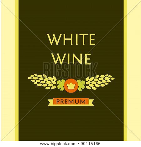 white wine label