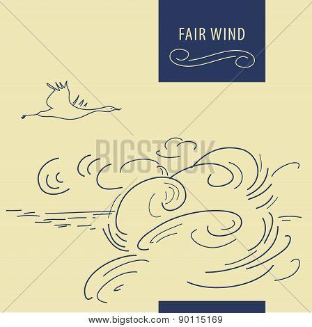 Fair wind background
