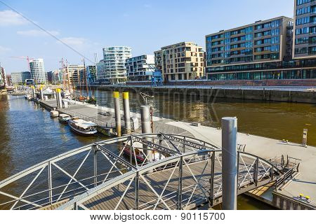 Famous Hafencity Nord In The Speicherstadt In Hamburg