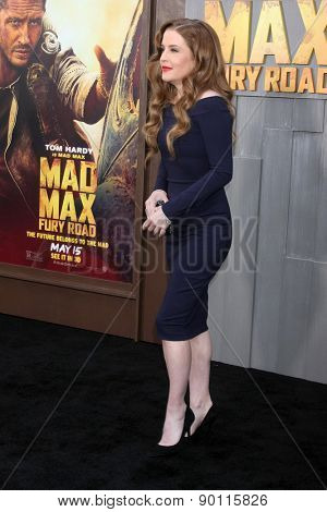 LOS ANGELES - MAY 7:  Lisa Marie Presley at the Mad Max: Fury Road Los Angeles Premiere at the TCL Chinese Theater IMAX on May 7, 2015 in Los Angeles, CA