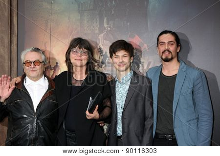LOS ANGELES - MAY 7:  George Miller, family at the Mad Max: Fury Road Los Angeles Premiere at the TCL Chinese Theater IMAX on May 7, 2015 in Los Angeles, CA