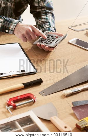 Man Working On A Diy Project
