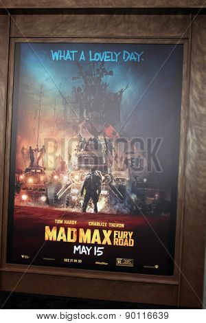 LOS ANGELES - MAY 7:  Mad Max Atmosphere at the Mad Max: Fury Road Los Angeles Premiere at the TCL Chinese Theater IMAX on May 7, 2015 in Los Angeles, CA