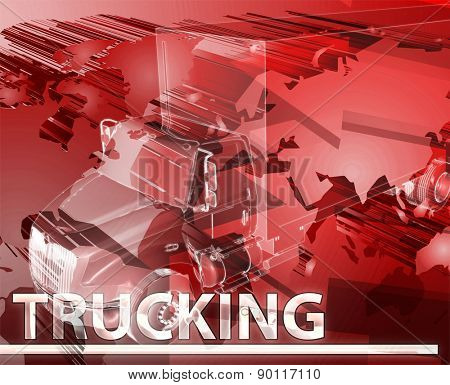 Abstract background digital collage concept illustration Trucking land transport