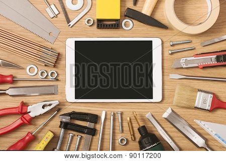 Digital Tablet With Diy Tools