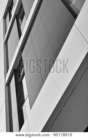 modern facade in Magdeburg