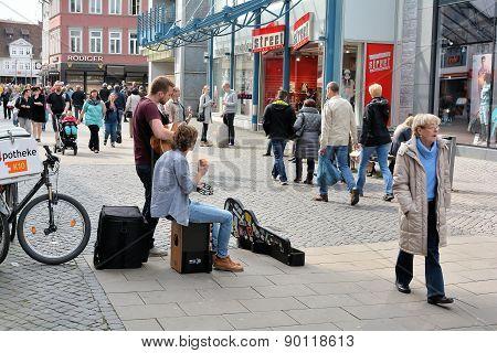 Street musicians in Braunschweig