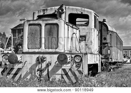 old disused locomotive