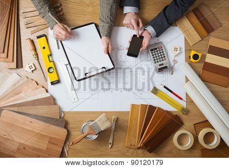 Engineers Working Together On A Building Project