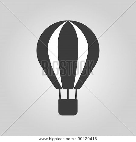 The Air Balloon Icon. Aerostat Symbol. Flat