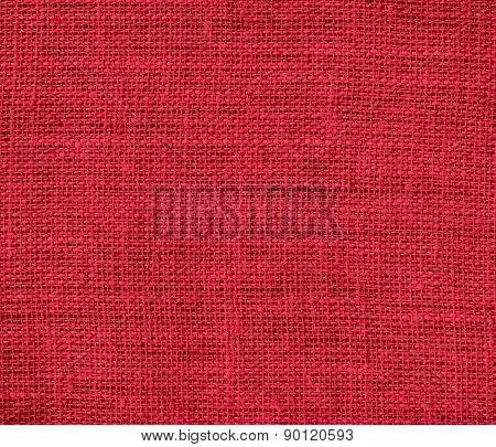 Cardinal color burlap texture background