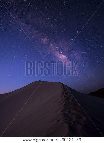 Milky Way over the desert of sahara, morocco