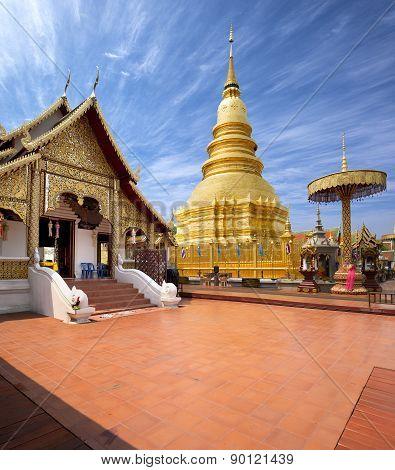 Buddhist Temples Of Thailand, Wat Phra That Hariphunchai Lamphun