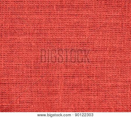 Carmine pink color burlap texture background