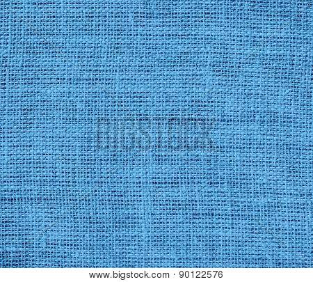 Carolina blue color burlap texture background