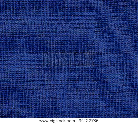 Catalina blue color burlap texture background