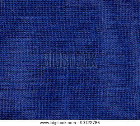 Catalina blue color burlap texture background