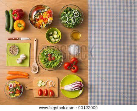 Healthy Vegetarian Home Made Food