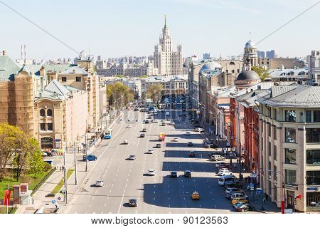 Above View Of Lubyanka Square In Moscow