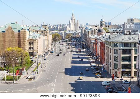 Skyline With Lubyanka Square In Moscow