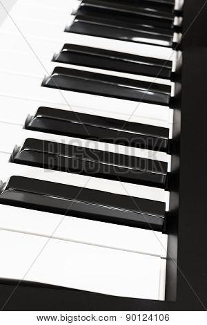 Side View Keys Of Musical Digital Keyboard