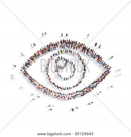 people representing the eye.