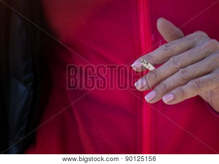 Female With A Cigarette