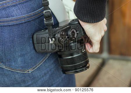 Photo Camera On A Strap